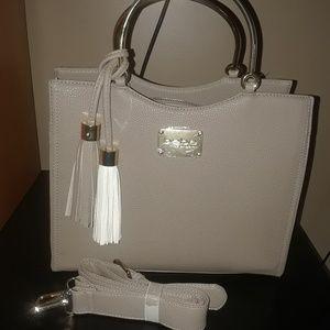 Bebe Taupe Shopper Tote handbag